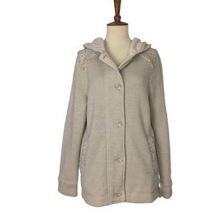 Patagonia Hooded Button Fleece Sweater Small